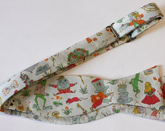 Bow Tie Alice in Wonderland Self-tie - Mad Hatter - Liberty of London / Freestyle Bow Tie