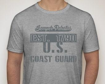United States Coast Guard Classic U.S. Coast Guard Motto Vintage T-Shirt