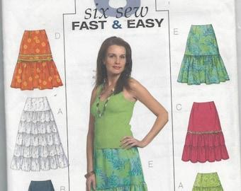 Butterick 4743 Misses Skirt Size 16-22