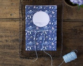 "2 floral notebooks - Thoreau's quote ""All good things are free and wild"" - 80 blank pages journal"