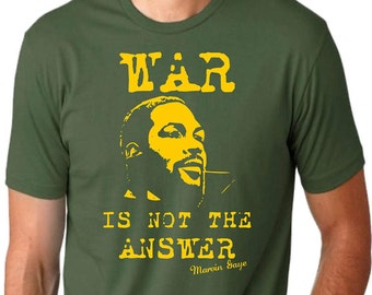 Marvin Gaye T-shirt - War Is Not The Answer, Soul, 70's Various Sizes/Colours