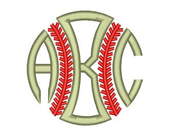 Baseball Monogram Font Machine Embroidery Designs 5 Size Bx Embroidery Fonts Alphabets Monogram - INSTANT DOWNLOAD