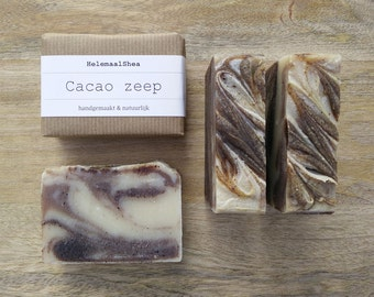 Cocoa soap - handmade, all natural soap - with organic cocoa butter and cocoa powder / chololate soap / organic and fairtrade