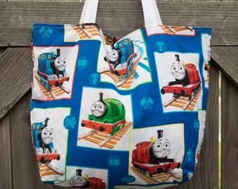 Thomas the Train & Teenage Mutant Ninja Turtles Mini Tote, Shopping Bag, Tote, Grocery Bag, Reusable, Vegan
