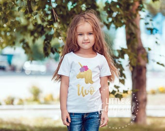 Unicorn Second Birthday, Unicorn 2nd Birthday Shirt, Girls Unicorn Birthday Shirt, Unicorn Birthday Shirt, Unicorn Shirt, Girls Unicorn