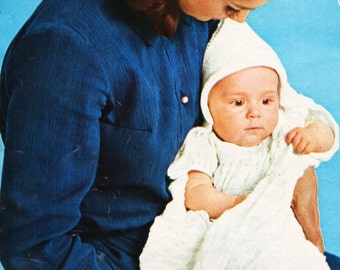 vintage baby 4ply hooded shawl knitting pattern pdf baby shawl with hood square shawl 4 ply sports pdf instant download
