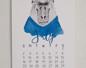 NEW** 2017 Illustrated Animal Calendar