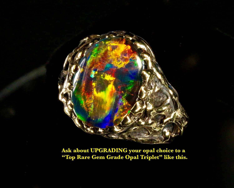 See Video Men S Huge Opal Ring Natural Australian Opal