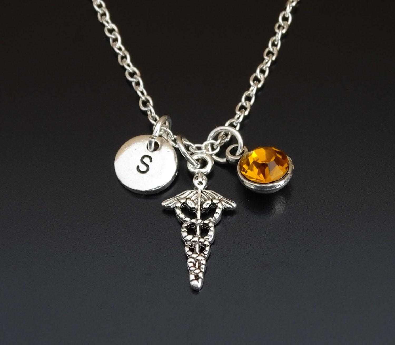 caduceus necklace caduceus charm caduceus pendant caduceus