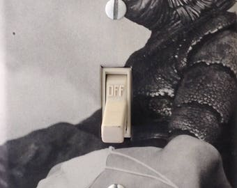 Creature from the Black Lagoon Classic Hollywood Vintage Horror Movie Light Switch Cover Mancave Home Theater Den Dorm Free US Shipping