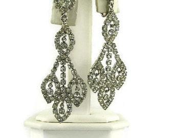 Vintage Rhinestone Glamour Earrings