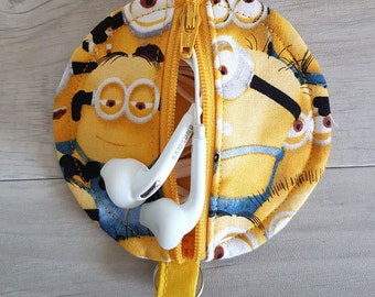 Minions Inspired Earbud Zipper Pouch