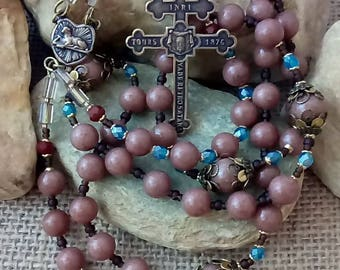 Bronze HOLY FACE CHAPLET Rosary Handmade St Leo duPont Arch Confraternity of the Holy Face Member's Crucifix Recast Holy Face Medal Dolores