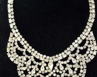 Weiss Rhinestone Vintage Necklace