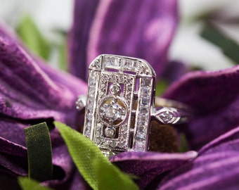Vintage art deco ring - Art deco jewelery / 1920's jewelery / vintage design / neo victorian