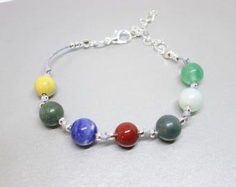 Gratitude bracelet, count your blessings, blessing bracelet, spiritual jewelry, blessing stones, bead counting bracelet, spiritual stones