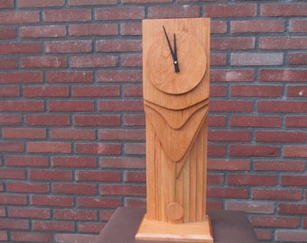 Wooden clock with pendulum