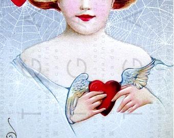 To My VALENTINE ! Edwardian Valentine. Vintage Valentine Digital Download. VALENTINE Vintage Card. St. Valentine's Card.