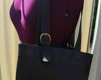 Coach Mahogany Leather Buckle bag 4157