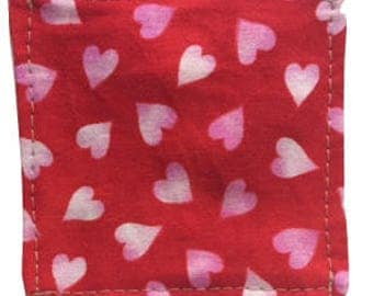 The Pocket Cross: Hearts On Red Fabric--Both Sides