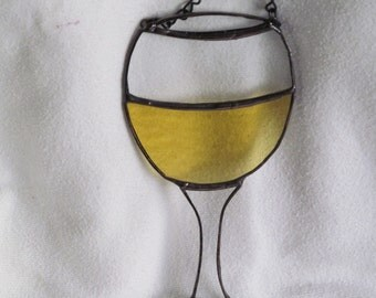 white wine, glass, sun catcher, fun, gift, girlfriends, wine-lover,