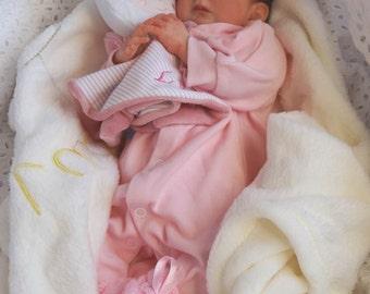 Hyper-realistic premature girl custom reborn baby