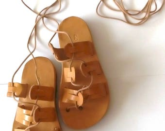 Baby gladiator sandals, baby girl sandals, leather sandals, baby shoes, greek leather sandals, infant gladiator sandals, barefoot sandals