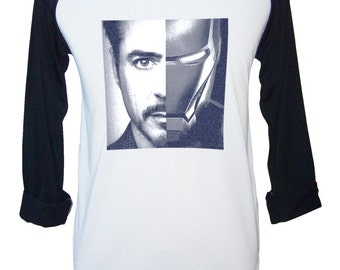 Iron Man Shirt, Robert Downey Jr Shirt, Iron Man T-Shirt, Avengers Shirts, Baseball T-Shirts