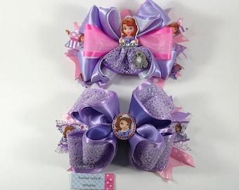 princess sophia the first hair bow, sophia hair bow,sophia the first hair bow, princess sophia bow