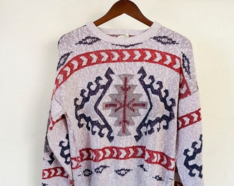 ON SALE - comfy & warm knitted holiday sweater, women's large or men's small