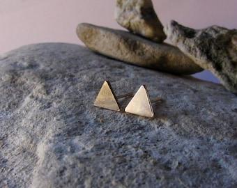 Triangle Stud Earrings Sterling Silver