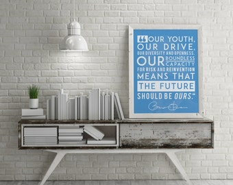"""Obama Farewell Address - """"The Future Should Be Ours"""" - 18x24"""