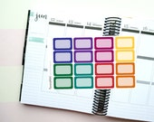 16 Dark/Jewel Toned Half Boxes Themed Planner Stickers for Erin Condren, Kikki K, Filofax, Happy Planner, Websters Pages