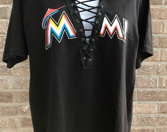 Miami Marlins  Lace-up Tee