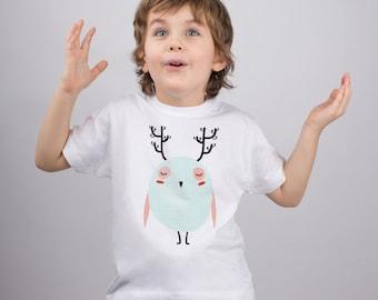 Kids Owl Shirt Owl Print Baby Shirt Boys Owl Shirt Girls Owl Shirt Cute Owl Shirt Toddler Owl Shirt Kids Tshirt Owl Top Toddler Shirt PA1102