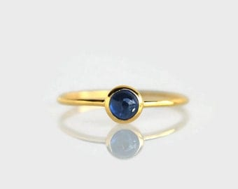 stack ring sapphire, stack rings blue sapphire, sapphire ring, stacking ring, engagement ring, blue sapphire, september birthstone