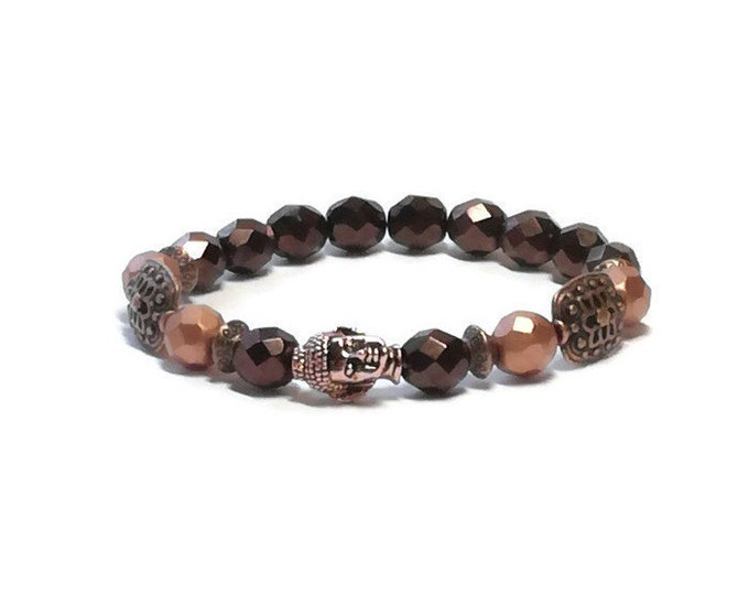 Buddha bracelet, yoga bracelet, Spiritual bracelet,cooper bracelet, yoga jewelry