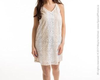 white lace dress beach dress short white dress sleeveless dress shift dress loose simple dress summer dress casual dress spring dress