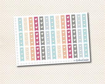 3 Heart Checklist Stickers
