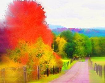 Palatine seasons: autumn, 1 x art print 40 x 30 cm