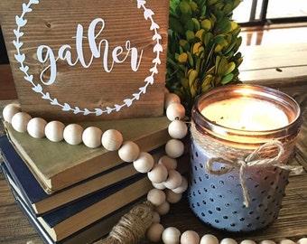 Gather Mini Sign / Gather sign / mini wood sign / gather / dining room decor / kitchen decor / living room decor / family room decor