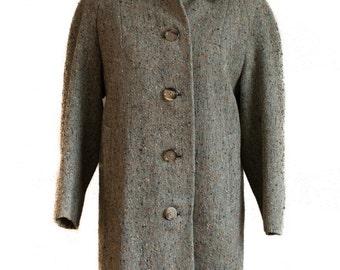 Burberry jacket Overcoat Burberrys coat Sherlock Holmes Burberry 1950s Burberrys Coat 1950s Tweed Coat Irish Wool Coat