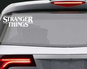Stranger Things vinyl decal / Car window or bumper Laptop phone iPhone Wall Art Sticker Decals / Living room home decor/ removable die-cut