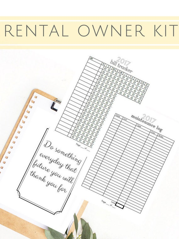 Rental Property | Property Management | Home Improvement | Landlord Tool | Rental Income | INSTANT DOWNLOAD | A5 | Printable Planner | 12pgs