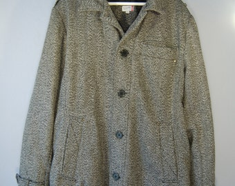 Second hand jacket coat XXL Tweed winter jacket grey