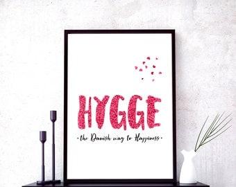 hygge, hygge print, scandinavian art, wall art, gift for mom, nordic decor, apartment printable, hygge decor, mom gift, hygge wall art