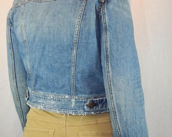 Vintage Distressed Jeans Jacket