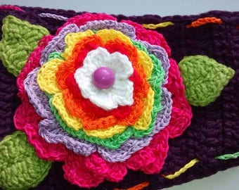 Crochet Headband, Flowers Headband