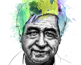 Chavez, Cesar // Portrait Art Print
