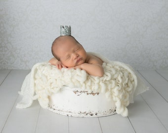 Newborn Crown | Newborn Photo Prop | Newborn Girl | Newborn Hat | Newborn Boy | Baby Glitter Crown